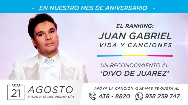 ¡Radio La Inolvidable te invita a votar por tus canciones favoritas de Juan Gabriel!
