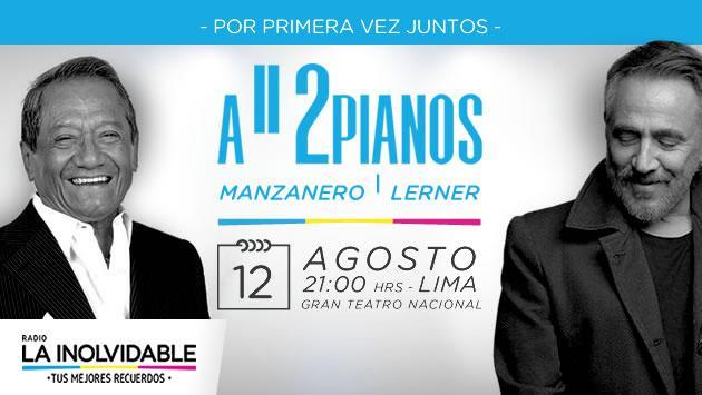 Un concierto de lujo con Armando Manzanero y Alejandro Lerner