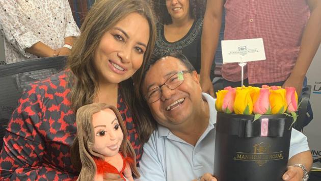 Myriam Hernández encandiló la cabina de La Inolvidable con su presencia [VIDEO]