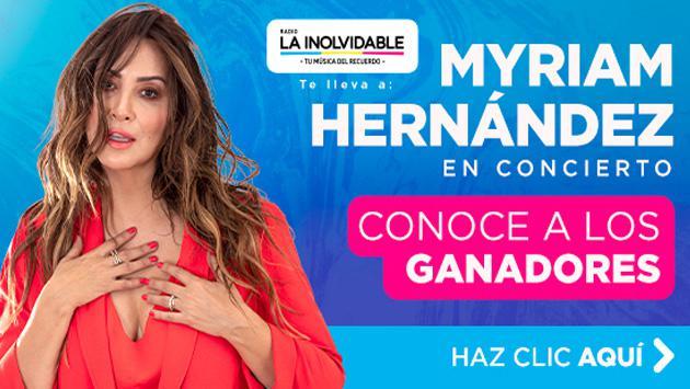¡Conoce a los ganadores de las 25 entradas dobles para el concierto de Myriam Hernández en Perú!