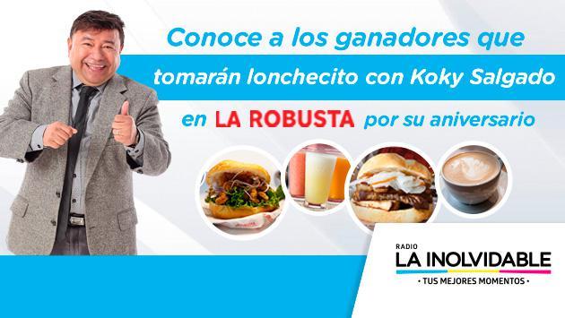 ¡Conoce a los ganadores que tomarán 'lonchecito' con Koky Salgado en la sanguchería La Robusta!