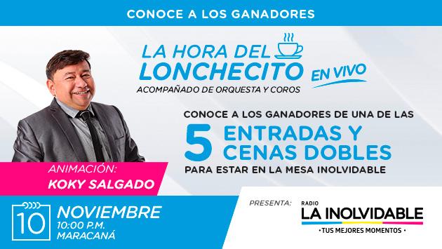¡Conoce a los ganadores de las 5 cenas dobles y entradas para 'La Hora del Lonchecito' en vivo!