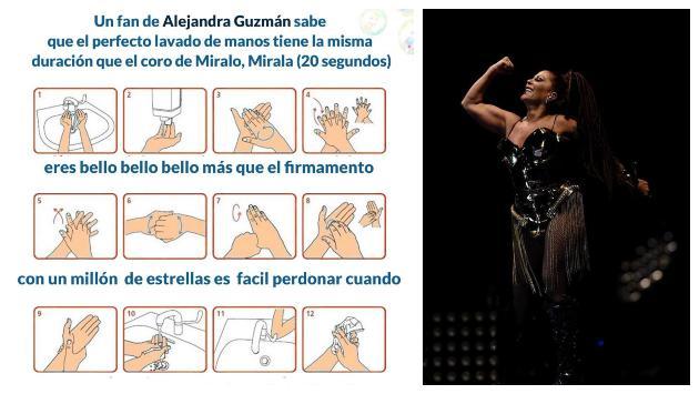 Alejandra Guzmán le pide a sus fans lavarse las manos al ritmo de uno de sus éxitos