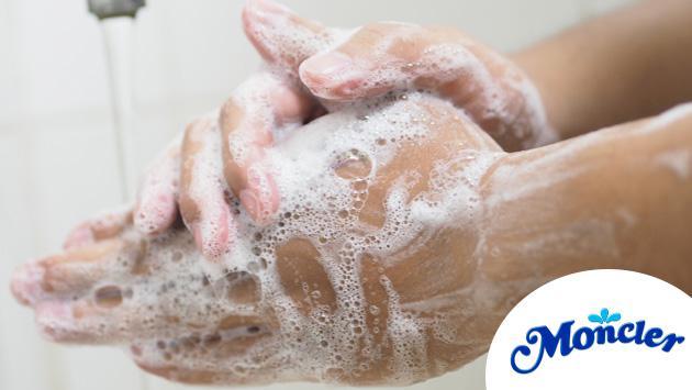 ¡Aprende a lavarte bien las manos con Moncler!
