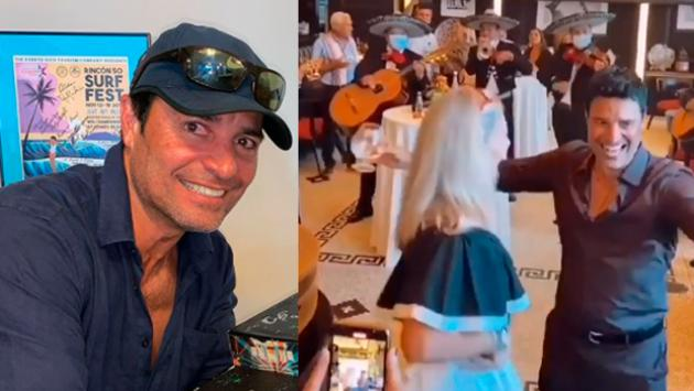 Así celebró Chayanne el cumpleaños de su esposa Marilisa [VIDEOS]