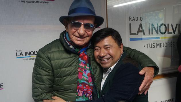 Así fue la visita de Nicola Di Bari en la cabina de Radio La Inolvidable