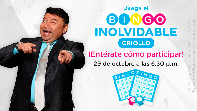 ¡Bingo Inolvidable Criollo te regala 500 soles!