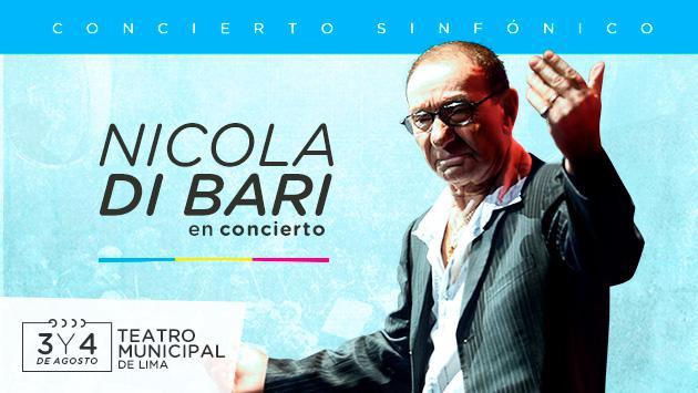 El legendario Nicola Di Bari vuelve al Perú con su show sinfónico