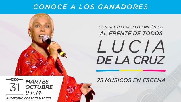 Conoce a los ganadores del concierto criollo sinfónico de Lucía de la Cruz