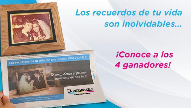 Conoce a los ganadores de 'LOS RECUERDOS DE TU VIDA SON INOLVIDABLES'