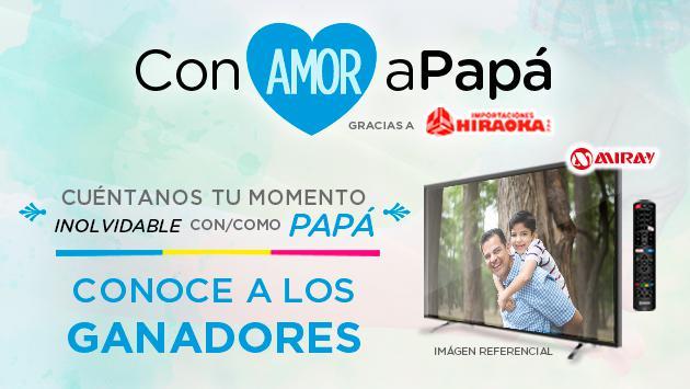 ¡Ellos son los afortunados ganadores del concurso 'Con Amor a Papá'!