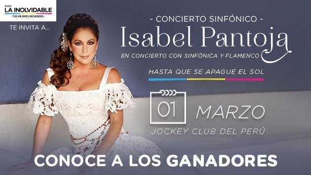 Conoce a los afortunados que verán a Isabel Pantoja en concierto, gracias a Radio La Inolvidable