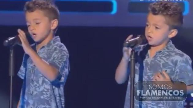 Estos niños gemelos sorprenden al interpretar la canción 'Te quiero, te quiero' de Nino Bravo (VIDEO)