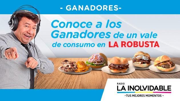 ¡Estos son los ganadores de los 2 vales de consumo en La Robusta!