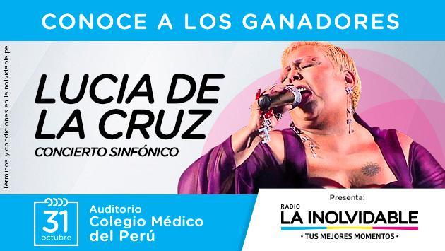 ¡Estos son los gandores de las 8 entradas dobles para concierto sinfónico de Lucia de la Cruz!