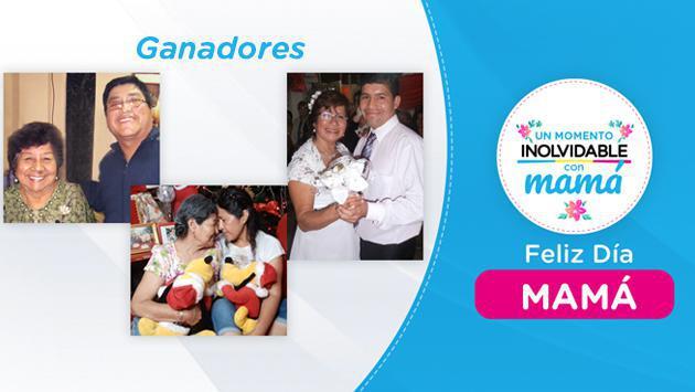 Ganadores de concurso 'Un Momento Inolvidable con Mamá'