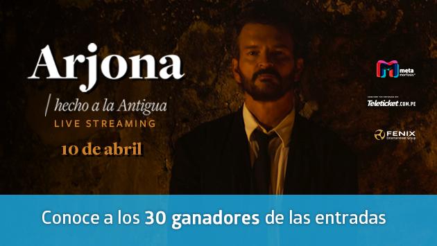 Ellos disfrutarán de Ricardo Arjona 'Hecho a la Antigua' , su primer concierto virtual