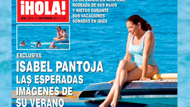 Isabel Pantoja se luce en ropa de baño