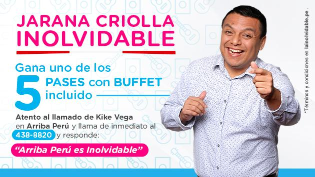¡Gana una de las 5 invitaciones para la Jarana Criolla Inolvidable!