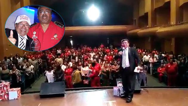 El gran Koky Salgado apoyó a los bomberos del Perú