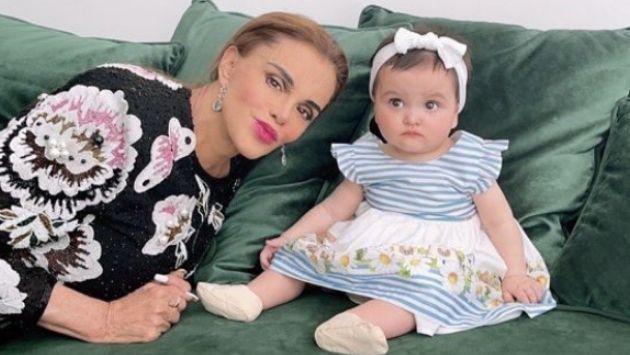 Lucía Méndez publica tierna foto al lado de su nieta
