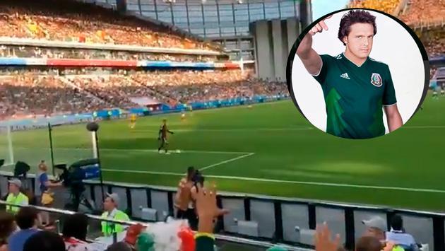 Aficionados mexicanos corearon una canción de Luis Miguel en la fiesta más grande del fútbol