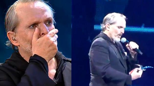 Miguel Bosé lloró en Viña del Mar al recibir 2 gaviotas