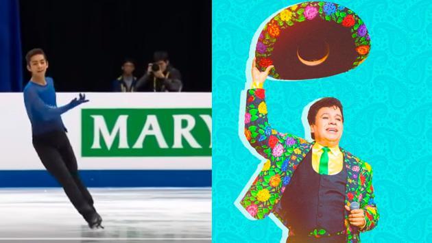 Mira este patinador mexicano que enamoró a todos recordando a Juan Gabriel [VIDEO]