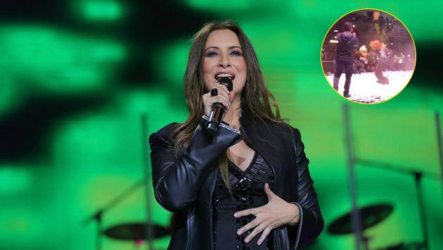 ¿Myriam Hernández se cayó en pleno concierto?