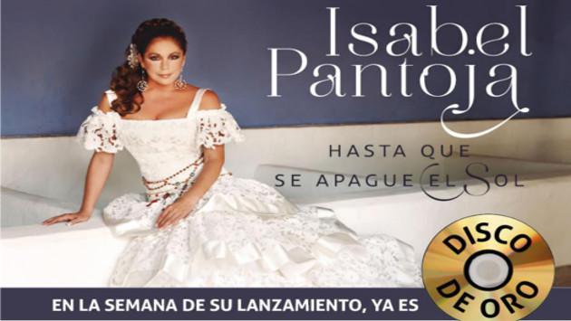 Nuevo álbum de Isabel Pantoja es 'Disco de Oro'