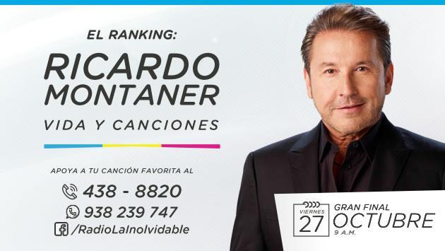 ¡Radio La Inolvidable te invita a votar por las canciones de Ricardo Montaner que más te gusten!