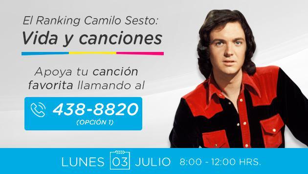¡Radio La Inolvidable te invita a votar por tus canciones favoritas de Camilo Sesto!