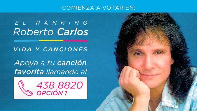 Radio La Inolvidable te invita a votar por tus canciones favoritas de Roberto Carlos