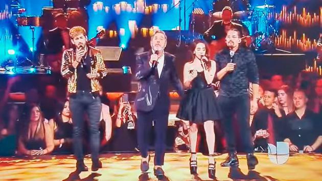 Ricardo Montaner cantó con sus hijos y conmovió al público