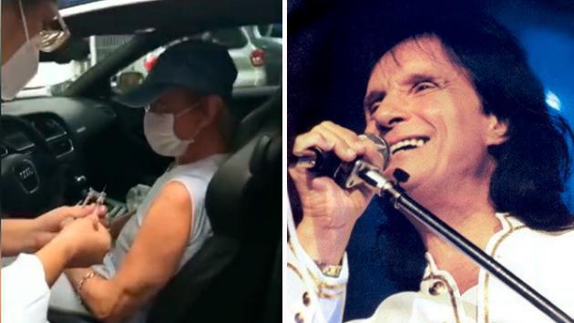 Roberto Carlos recibió segunda dosis de vacuna contra covid 19