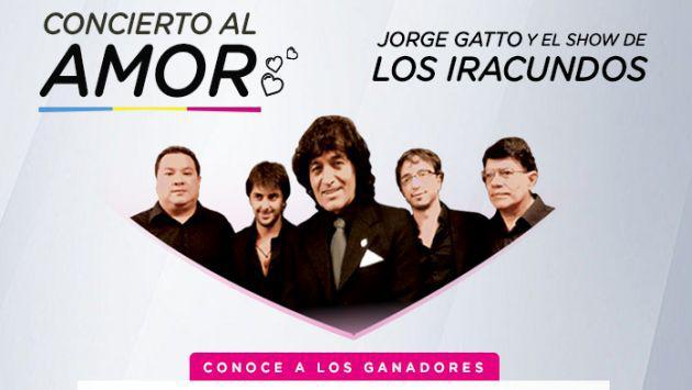 ¡Salieron los ganadores del Concierto al Amor con Jorge Gatto y el Show de los Iracundos!