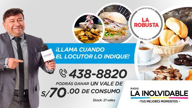 ¡Gana un vale de La Robusta gracias a Radio La Inolvidable!