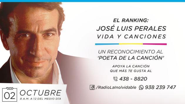 ¡Vota por tu canción favorita de José Luis Perales, gracias a Radio La Inolvidable!