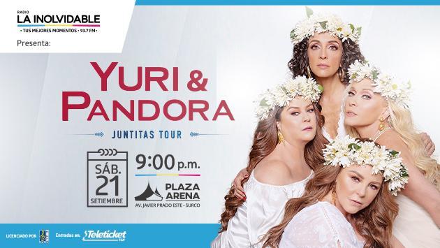 Yuri y Pandora por primera vez juntas en Lima: Aquí el precio de entradas