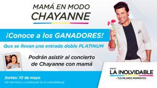 ¡Estos son los ganadores de 2 entradas dobles platinum para ir al concierto de Chayanne con mamá!