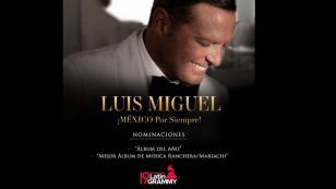 El albúm 'MÉXICO por siempre' de Luis Miguel es nominado al Latin Grammy