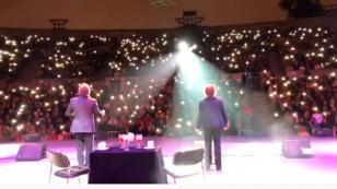 Así agradeció el dúo Pimpinela al público peruano después del concierto