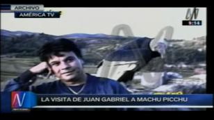 Juan Gabriel y la vez que visitó Machu Picchu. ¡Quedó maravillado! [VIDEO]