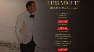 Luis Miguel bate record de ventas en sus próximos shows