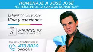 ¡Radio La Inolvidable te invita a votar por las canciones de José José que más te gusten!