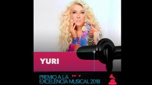 Yuri va a recibir el Premio a la Excelencia Musical en los Grammy Latinos